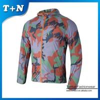 new design custom camo sublimation running jacket