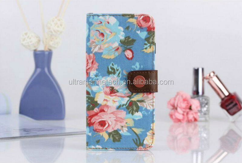flowers leather case for iphone 6,for iphone 6 case,for iphone 6 wallet case