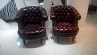 leather club chair nail heads