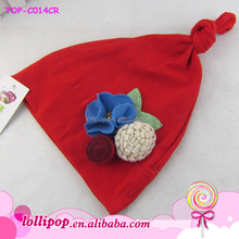 2015 popular girl lovely red hat for infant baby wholesale child hat