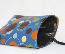 portable fabric printed customize storage bag trash bag holder for car
