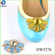 HW5276 fashion yiwu wholesale decorative shoe clip crystal high heel shoes buckle