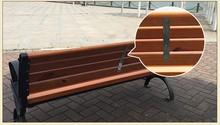 outdoor kids park wooden plastic bench
