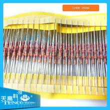 1/4W 130 Value 1300 Piece Metal Film Resistor Kit 1 ohm to 3M ohm