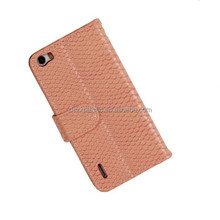 Leather case,high quality luxunry snake pattern wallet mobile phone PU leather phone case for HuaWei honor 6