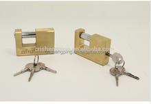 Top Security Rectangle Brass Padlock With Cross Keys