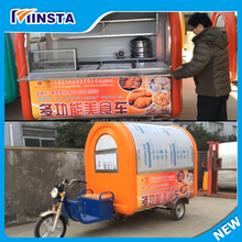 European quality , Chinese price mobile food design mobile bbq food van for sale portable carts fast food