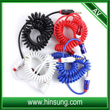 High quality retractable cable spiral spring power cables Audio Video 3.5mm cable