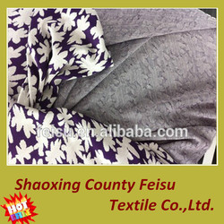 Professional polyester different color jacquard elastic knitting plain dyed fabric