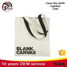 Supply Logo Custom blank plain high level quality canvas cotton shopping bags for promotional and advertising