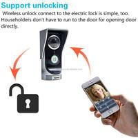 wireless peephole video door phone, video door entry,domofon, Interfones gsm ip wifi