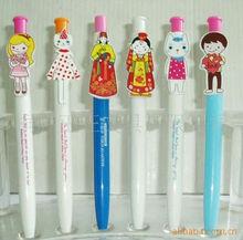2015 China whole sale unique cartoon image custom design clip plastic ball pen/business promotional tool gift