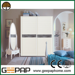 Modern new model Simple design hinged mirror closet doors
