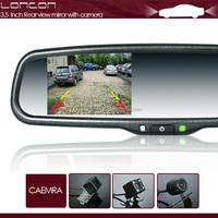 3.5'' inch high brightness screen smart car digital auto dimming rear view mirror with reverse car camera for high honda city