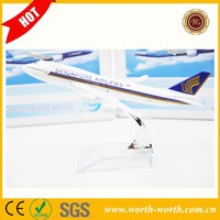 New Singapore Airline A380 passenger plane model, 18cm model plane for gifts