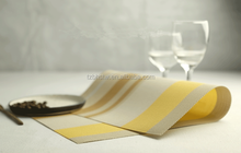 wholesale Hot selling Striped mats/PVC table mats/fashion table clothes