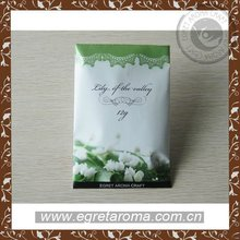 aroma vermiuculate scented paper bag for promotion