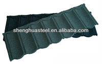 Green color decorative corrugated steel roof tiles