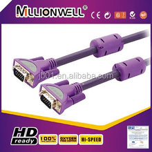 Hot sell purple VGA Notebook cable,VGA cable