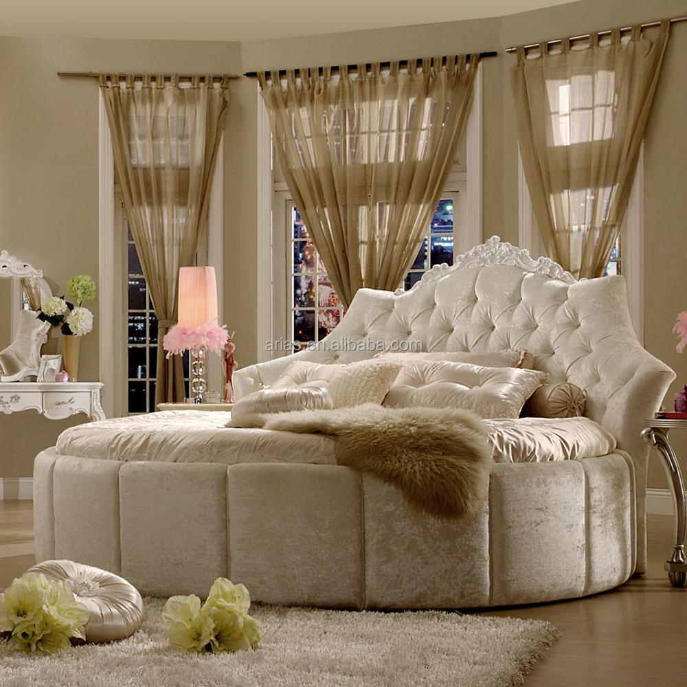 Hoge kwaliteit 5328# rond bed moderne slaapkamer meubilair bedden ...