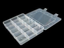 Transparent plastic compartment container