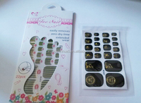 New fashion toe nail stickers, high quality toe nail wraps wholesale