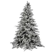 2015 hot sell dense flocked christmas tree unique outdoor led xmas tree