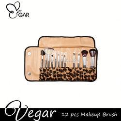 Leopard Professional 12pcs Makeup Brush Set customized make up brush