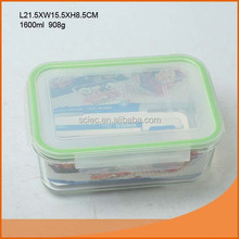 Food safe 1600ml easy lock borosilicate glass food container for Ikea quality