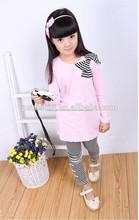 Adorable! Venta al por mayor de moda coreano niñas atuendos para occidental popular de bebé de moda ropa de niñas con el