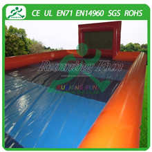 2015 inflatable soap football fields special for football, soccer games, with ground sheet