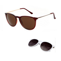 2014 hotsell fashion style in stock black frame mental let cat eyewear sunglasses with uv400
