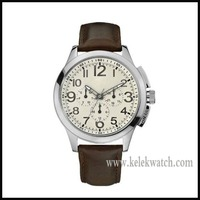 W10562G1 Gents Watch Journey , Multifunction movement watch with genuines leather