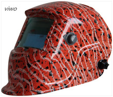 Red Colorful Music Score Solar Power Auto Darken Welding Helmet flip up welding helmet
