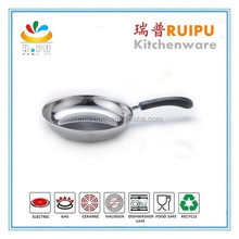 Business gift good quality stainless steel skillet pan