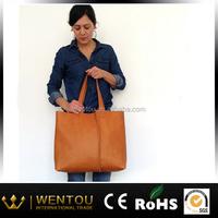 Large Minimalist Vegetable Tanned Handmade Leather Bag