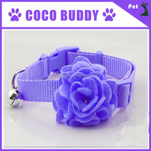 Luxury princess dog neck lace flower nylon webbing pet dog cat collar by pet supplies