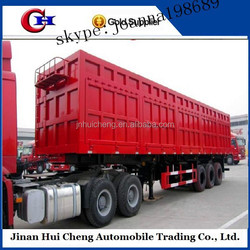 lastest products in market hydraulic tipper trailer/container dump trailer