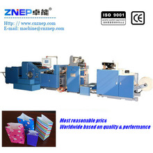ZD-F190 carry bag making machine/paper bag making machine price in china
