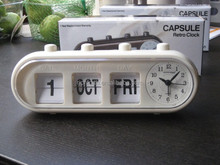 Capsule Retro Calendar Desk Alarm Clock