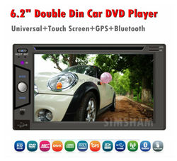 2 din 6.2 inch car dvd GPS/Bluetooth BT with steering wheel control