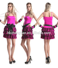 Walson girls party 80 s Costume Pop Star Material Girl Dress + colar roupas