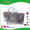 silk screen printing metallic lamination pp shopping bag, non woven bag