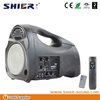 Manual portable mini speaker with FM radio built in rechargeable lithium battery inside TK-T39