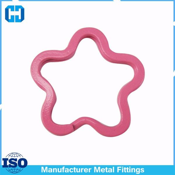 pink split flower key ring