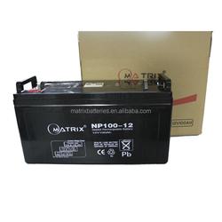 China deep cycle lead acid battery vrla battery 100ah