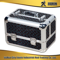 High quality aluminium double open multi-functional cosmetic case, delicate and practical jewelry case with lock