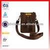 Brown Canvas Small Travel Portfolio Shoulder Bag(HC-A372)