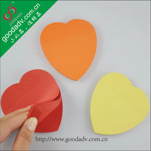 Made in China Advertising products sticky notes custom logo / round sticky note