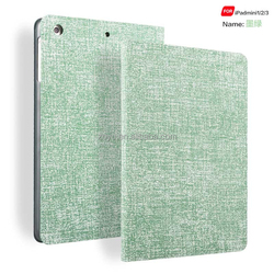 Magnetic Flip Stand Wake Up/Sleep Smart Cover Dormancy Cross Leather Case for ipad mini 2 case leather